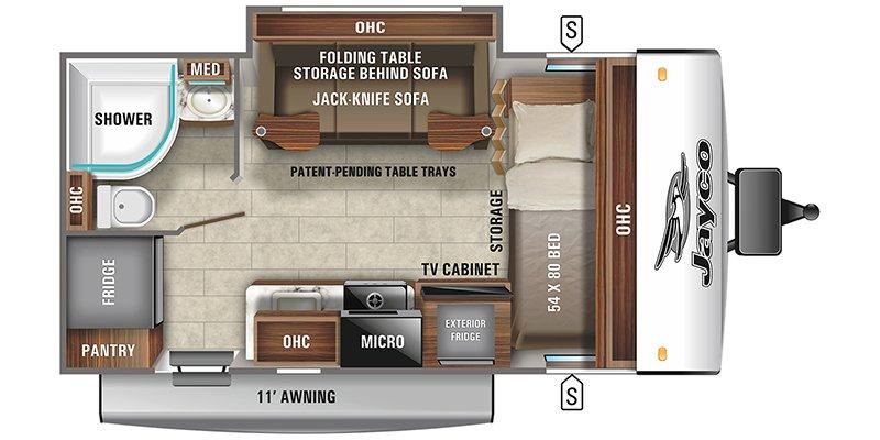 2022 JAYCO JAY FEATHER MICRO 166FBS Floorplan