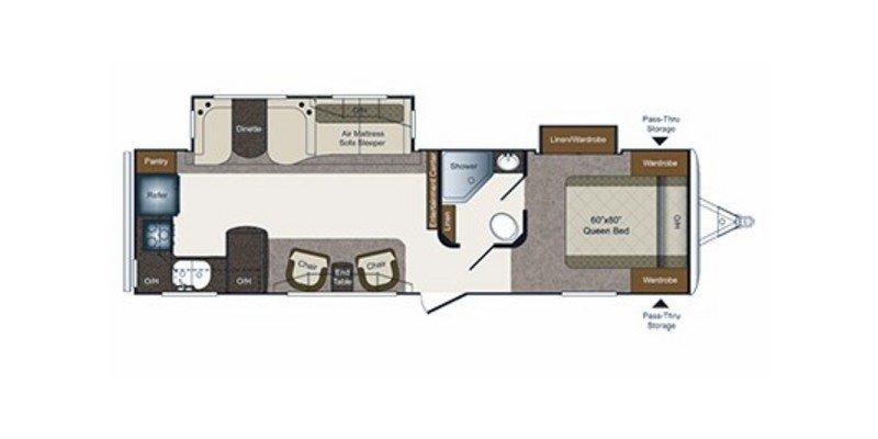 2014 KEYSTONE LAREDO 294RKS Floorplan