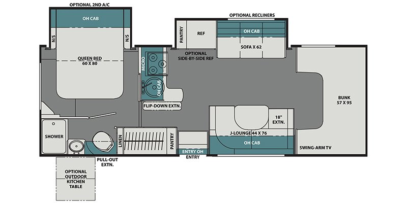 2021 COACHMEN LEPRECHAUN 260DS Floorplan