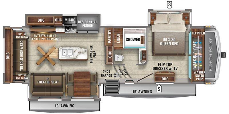 2021 JAYCO NORTH POINT 310RLTS Floorplan
