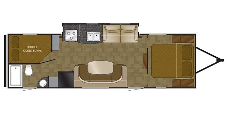 2014 HEARTLAND NORTH TRAIL 28BRS Floorplan