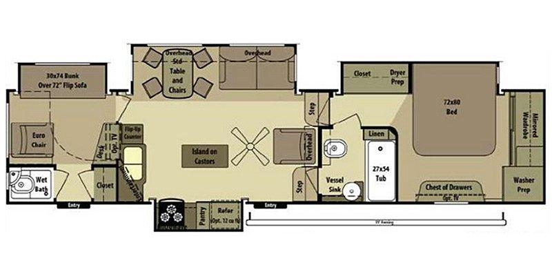 2013 OPEN RANGE OPEN RANGE 413RLL Floorplan