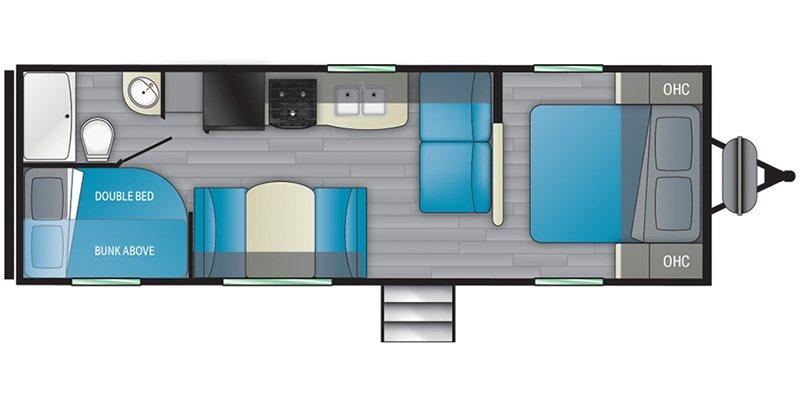 2022 HEARTLAND PROWLER 250BH Floorplan