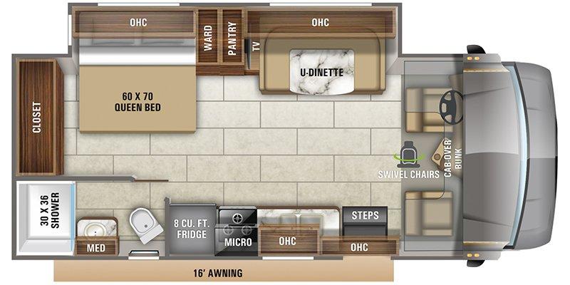 2021 JAYCO REDHAWK 24B Floorplan