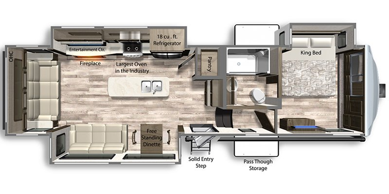 2021 DUTCHMEN YUKON 320RL Floorplan