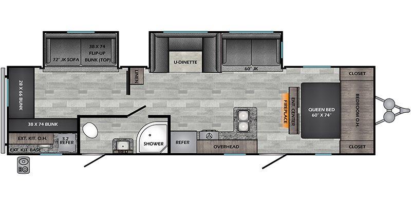 2022 CROSSROADS ZINGER 328SB Floorplan