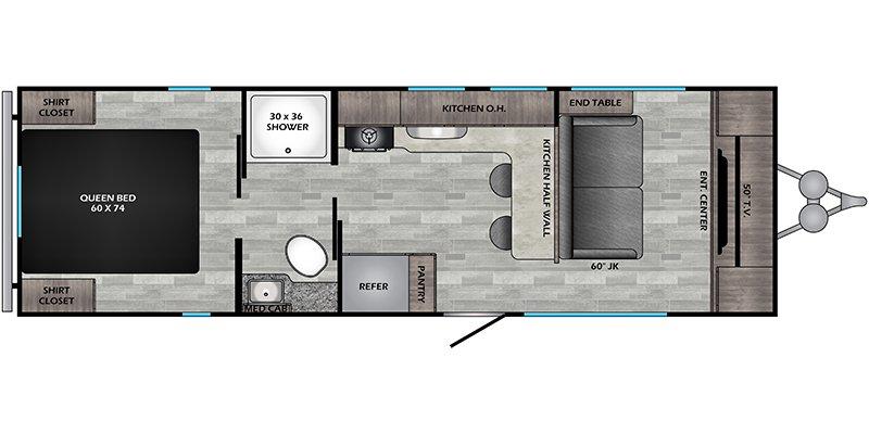 2021 CROSSROADS ZINGER LITE 259FL Floorplan