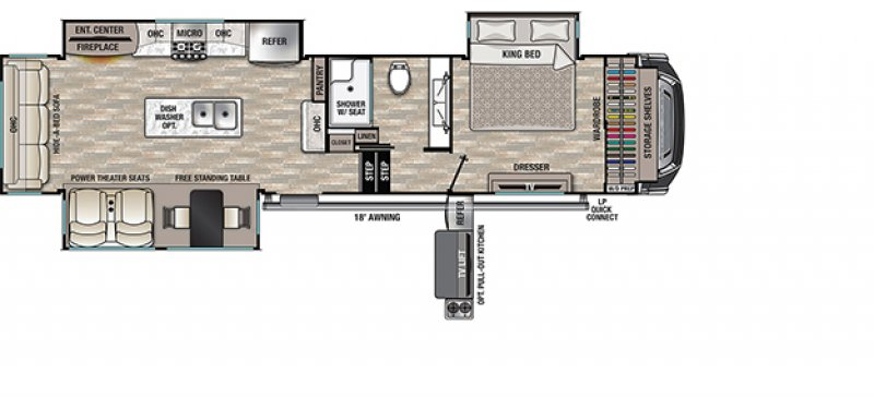 2021 FOREST RIVER CEDAR CREEK 345IK Floorplan
