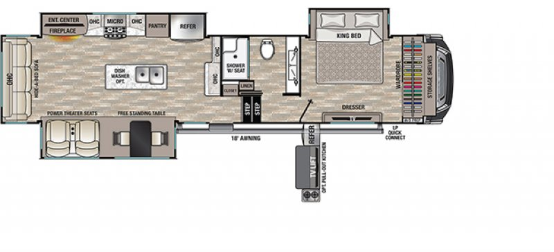 2021 FOREST RIVER CEDAR CREEK 360RL Floorplan