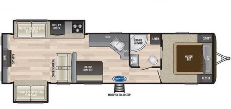 2019 KEYSTONE HIDEOUT 32RDDS Floorplan