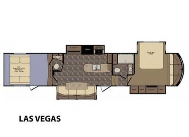 2015 CROSSROADS ELEVATION TF-38LV LAS VEGAS Floorplan