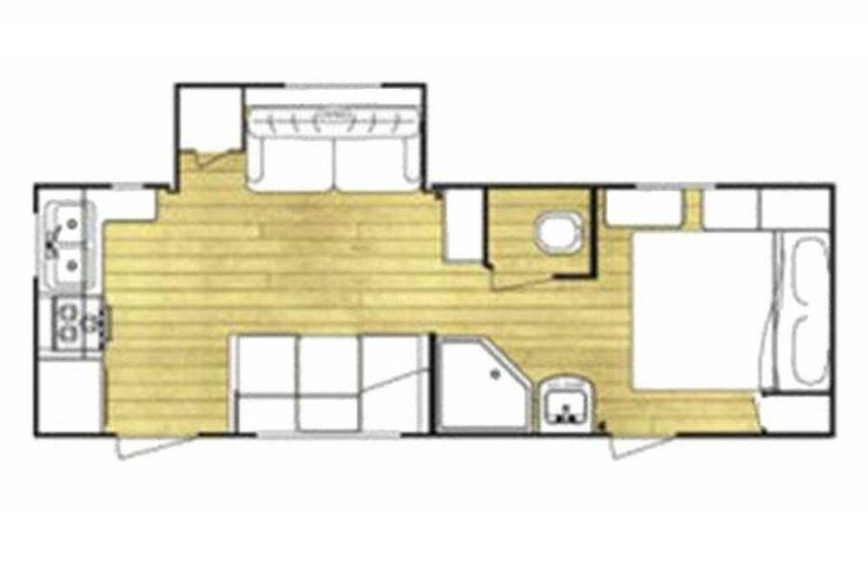 2008 GULFSTREAM CONQUEST 24RK Floorplan