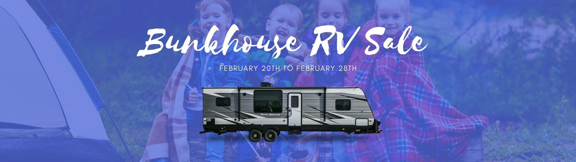 Bunkhouse Family RV Sale - Feb 20 to 28 - Slide Image