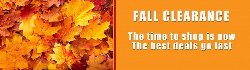 Slide Image - Fall Clearance