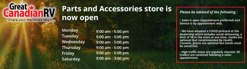Slide Image - Parts and Accessories reopen notice